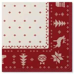 Tovaglioli Natale Punto Croce 33 x 33 cm Extra