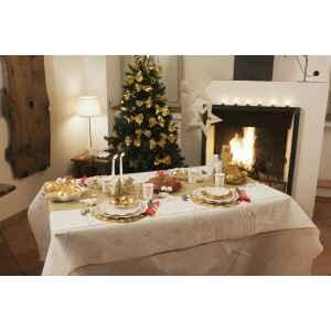 Tovaglia Rettangolare Golden Christmas 140 x 240 cm Extra