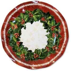 Extra Piatti Piani di Carta a Petalo Natale Ambience 27 cm