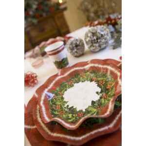 Extra Piatti Fondi di Carta a Petalo Natale Ambience 24 cm