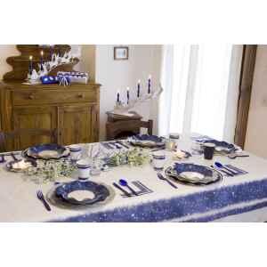 Extra Piatti Piani di Carta a Petalo Natale Magic Night 21 cm