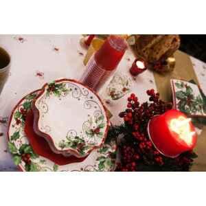 Piatti Fondi di Carta a Petalo Christmas Style 24 cm Extra
