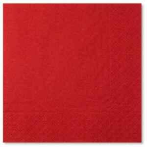 Tovaglioli Rosso 25 x 25 cm 3 confezioni Extra
