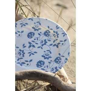Piatti Fondi a Righe Compostabili Natura Blu 25,5 cm Extra