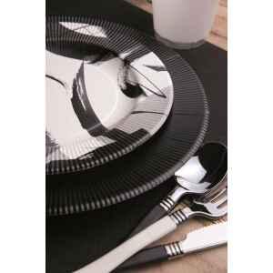 Piatti Piani di Carta a Righe Contemporary 21 cm Extra