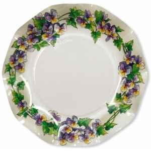 Extra Piatti Piani di Carta a Petalo Violette 27 cm