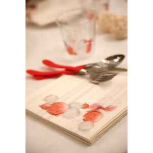 Piatti Fondi di Carta a Petalo Natale Vintage 18,5 cm Extra