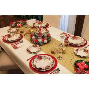 Extra Piatti Piani di Carta a Petalo Natale Romantico 24 cm