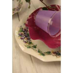 Piatti Fondi di Carta a Petalo Violette 18,5 cm Extra