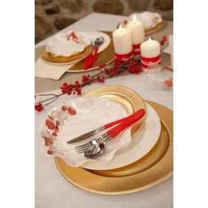Extra Piatti Piani di Carta a Petalo Natale Vintage 24 cm