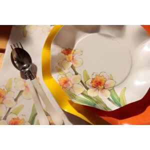 Piatti Fondi di Carta a Petalo Narcisi 18,5 cm Extra