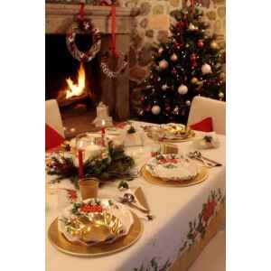 Extra Piatti Piani di Carta a Petalo Natale Romantico 21 cm