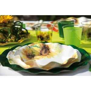 Piatti Fondi di Carta a Petalo Sunflower 18,5 cm Extra