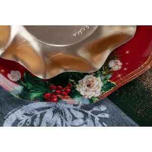 Extra Piatti Piani di Carta a Petalo Elegance Christmas 21 cm