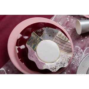 Extra Piatti Piani di Carta a Petalo Rose Gold Christmas 21 cm
