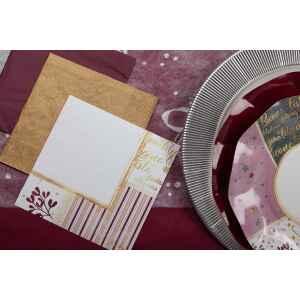 Piatti Fondi di Carta a Petalo Rose Gold Christmas 18,5 cm Extra