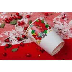 Extra Piatti Piani di Carta a Petalo Lucky Christmas 24 cm