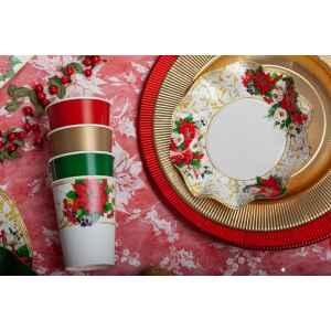 Piatti Fondi di Carta a Petalo Lucky Christmas 18,5 cm Extra