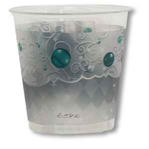 Bicchieri di plastica XMAS LIGHT SILVER 300 cc Extra