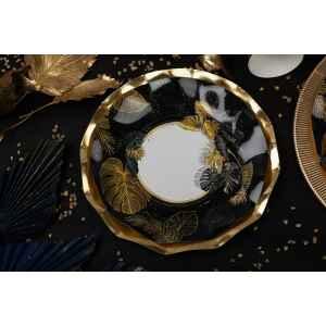 Piatti Fondi di Carta a Petalo Black Tropical 18,5 cm Extra
