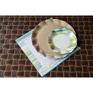 Piatti Piani di Carta a Petalo Ethnic 21 cm Extra