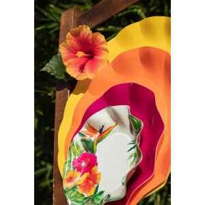 Piatti Piani di Carta a Petalo Tropical 21 cm Extra