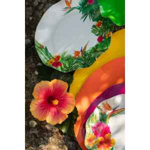 Piatti Fondi di Carta a Petalo Tropical 18,5 cm Extra