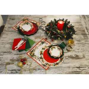Extra Piatti Piani di Carta a Petalo Jingle Bells 21 cm