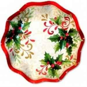 Piatti Fondi di Carta a Petalo Tradition Agrifoglio 18,5 cm Extra