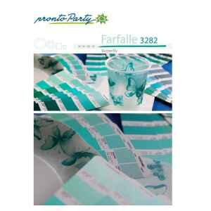 Extra Piatti Piani di Carta a Petalo Farfalla Verde 21 cm