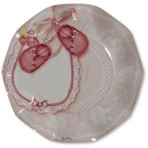 Extra Piatti Piani di Carta a Petalo Baby Rosa 21 cm