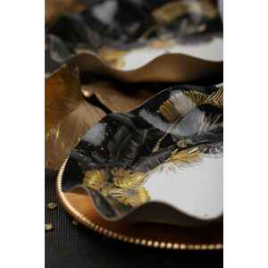 Extra Piatti Piani di Carta a Petalo Black Tropical 24 cm