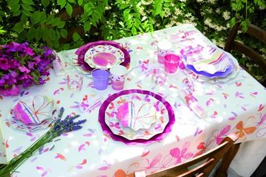 Extra Piatti Piani di Carta a Petalo Fresh Pink 27 cm