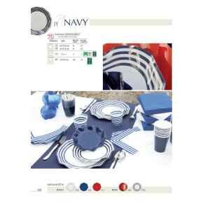 Extra Piatti Piani di Carta a Petalo Navy Blu 21 cm