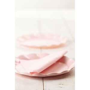 Piatti Piani di Plastica a Petalo Rosa 34 cm 2 confezioni Extra