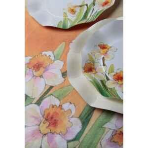 Extra Piatti Piani di Carta a Petalo Narcisi 27 cm 2 Confezioni