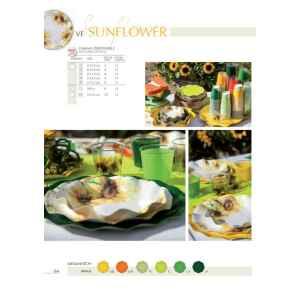 Extra Piatti Piani di Carta a Petalo Sunflower 24 cm