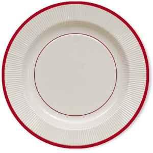 Extra Piatti Piani di Carta a Righe Bordo Rosso Classic Red 21 cm