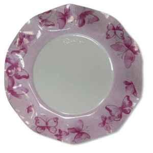 Extra Piatti Piani di Carta a Petalo Farfalla Rosa 21 cm