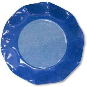 Extra Piatti Piani di Carta a Petalo Bicolore Turchese - Blu Cobalto 21 cm