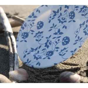 Extra Piatti Piani a Righe Compostabili Natura Blu 21 cm
