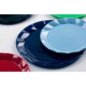 Piatti Piani di Plastica a Petalo Blu Notte 20 cm 2 confezioni Extra