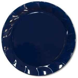 Piatti Piani di Plastica a Petalo Blu Notte 34 cm 2 confezioni Extra