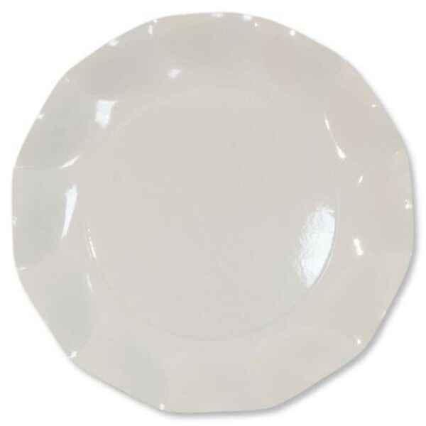 Extra Piatti Piani di Carta a Petalo Bianco 24 cm