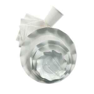 Piatti Fondi di Carta a Petalo Bianco 18,5 cm Extra