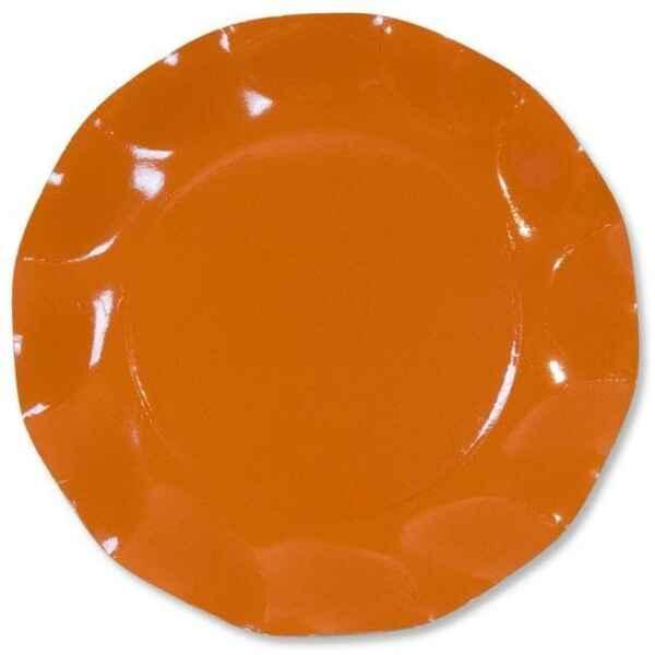 Extra Piatti Piani di Carta a Petalo Arancione 21 cm