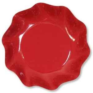 Piatti Fondi di Carta a Petalo Rosso 18,5 cm Extra