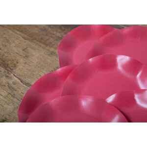 Extra Piatti Piani di Carta Compostabile a Petalo Rosso fragola 21 cm