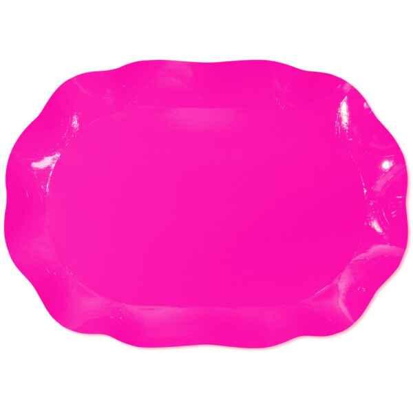 Vassoio Rettangolare Rosa Pink 46 x 31 cm 1 Pz Extra
