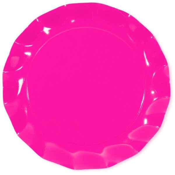 Piatti Piani di Carta a Petalo Rosa Pink 32,4 cm Extra